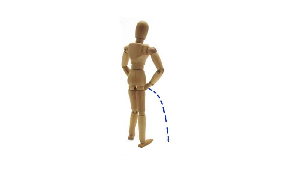 おしっこをする人形の写真
