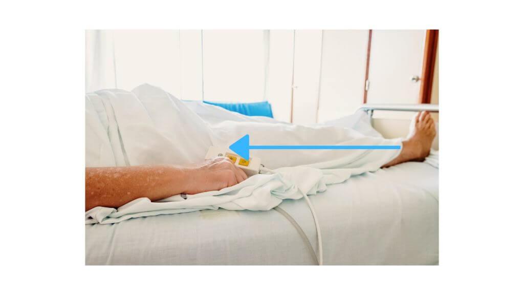 下肢の水分が流れるイメージ