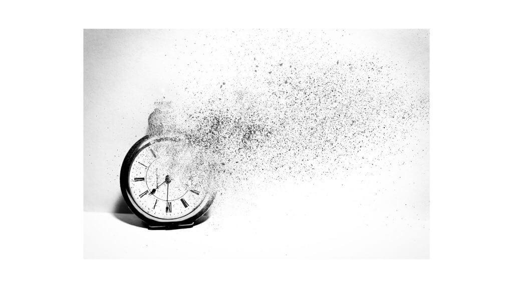 時間が壊れるイメージ