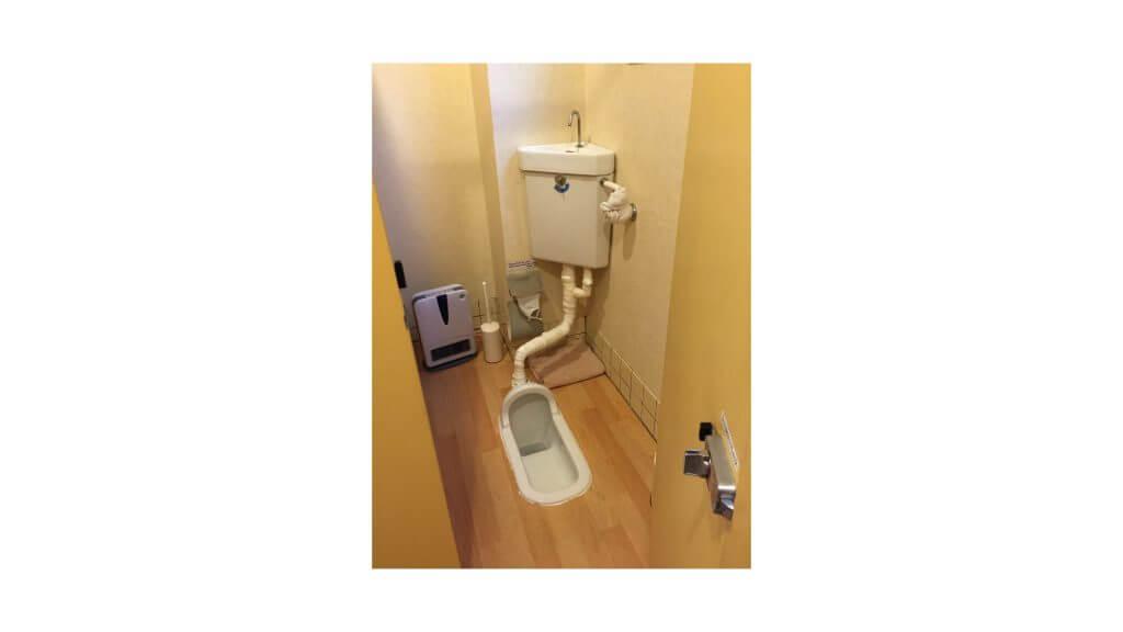和式トイレの写真