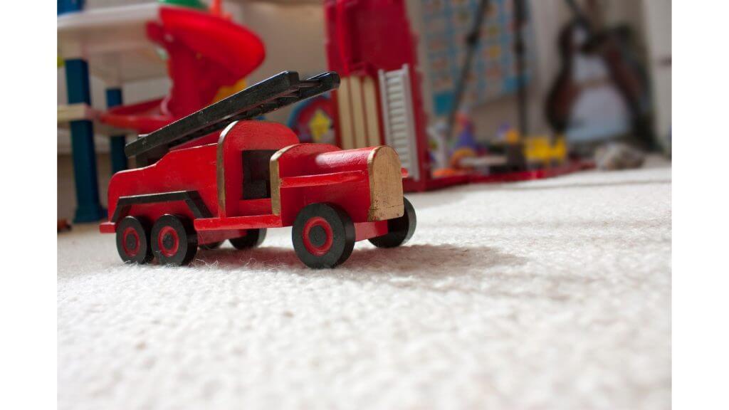 消防車のおもちゃの写真