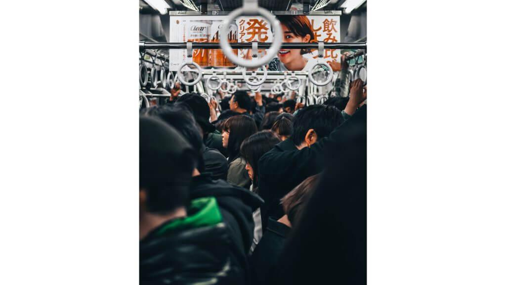 満員電車の写真