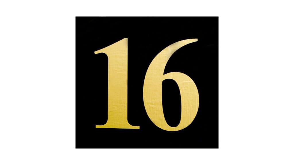 「16」と書かれたイメージ