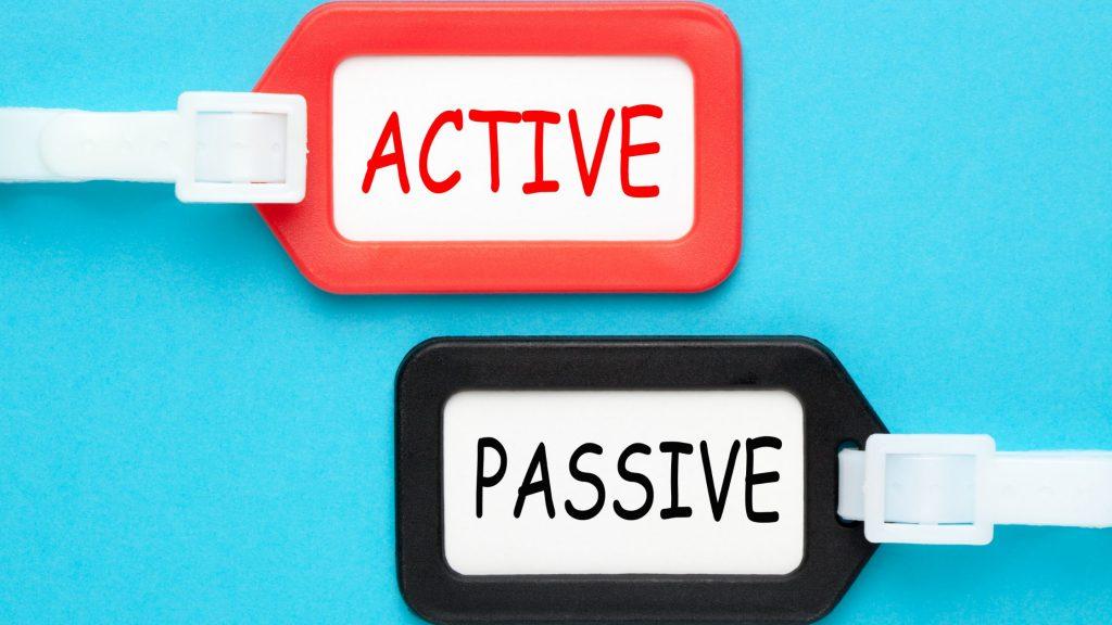 アクティブとパッシブのイメージ