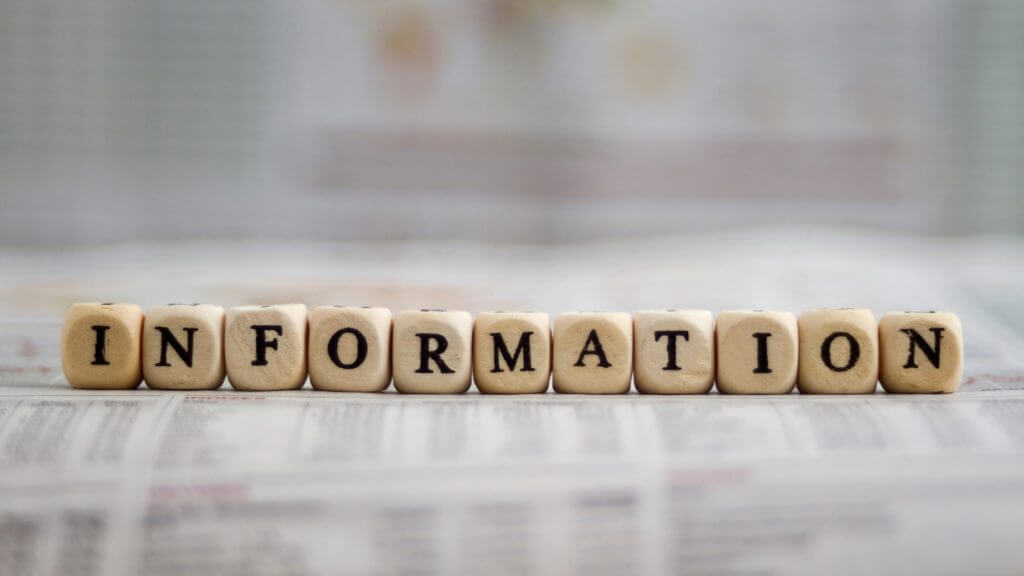 informationの文字