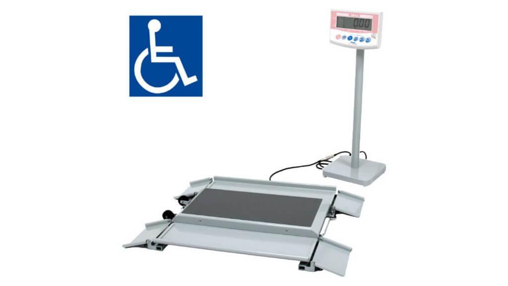 車椅子用体重計の写真