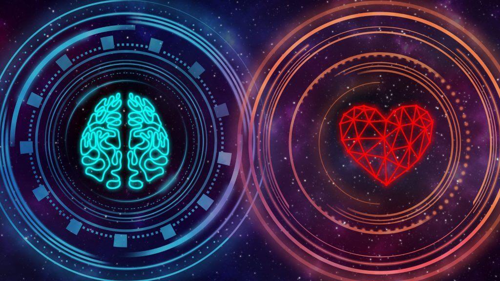 脳と感情のイメージ