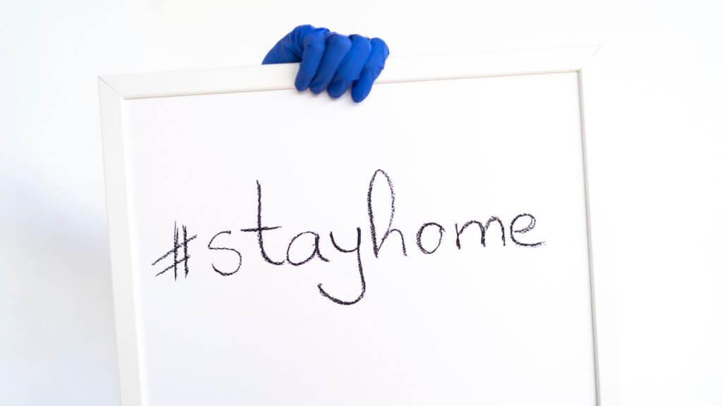 stayhomeの文字